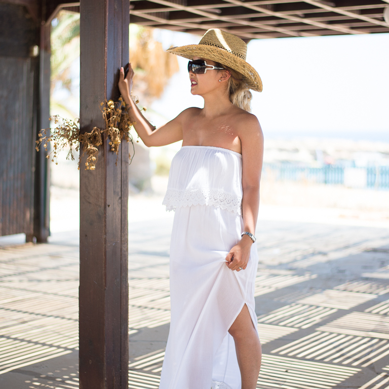 Cowboy Hat And A Maxi Dress